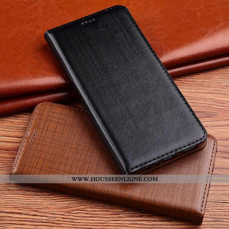 Housse Nokia 7.2 Fluide Doux Protection Incassable Noir Tout Compris Cuir Cuir Véritable