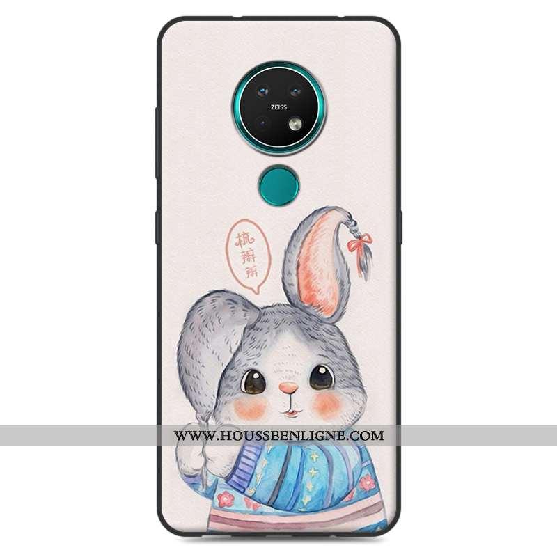 Housse Nokia 7.2 Protection Délavé En Daim Coque Étui Téléphone Portable Fluide Doux Dessin Animé Be