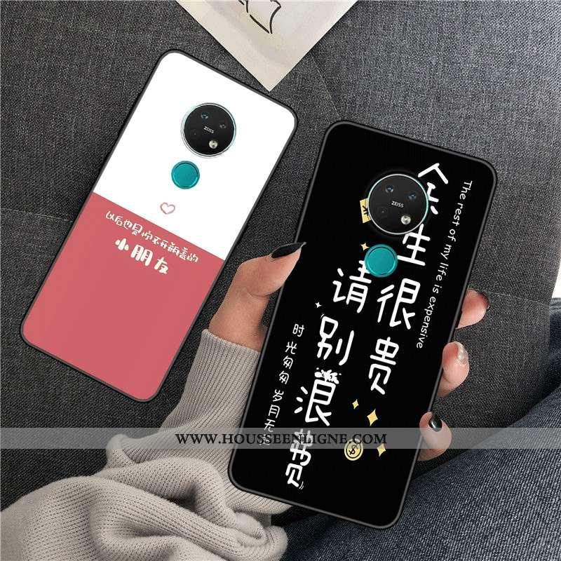 Housse Nokia 7.2 Protection Personnalité Silicone Créatif Personnalisé Incassable Étui Noir