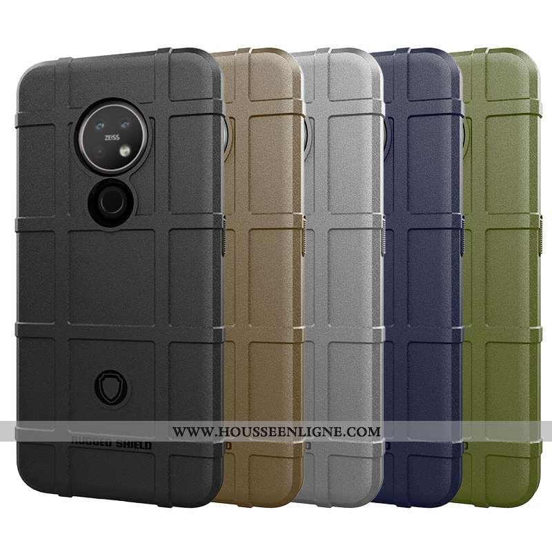 Housse Nokia 7.2 Tendance Fluide Doux Protection Gris Nouveau Trois Défenses Téléphone Portable