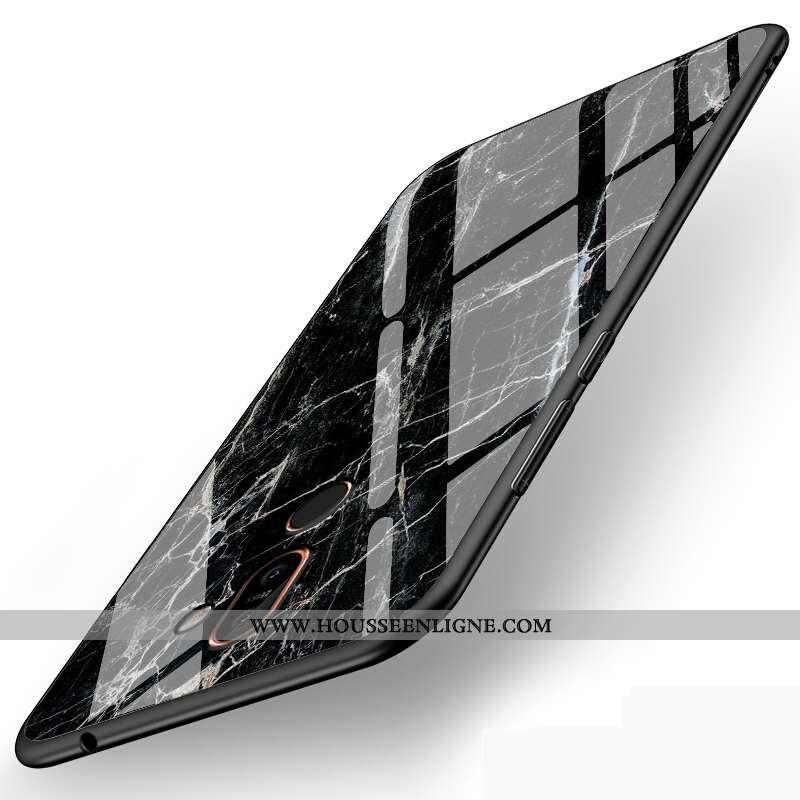 Housse Nokia 7 Plus Personnalité Silicone Simple Téléphone Portable Incassable Protection Étui Noir