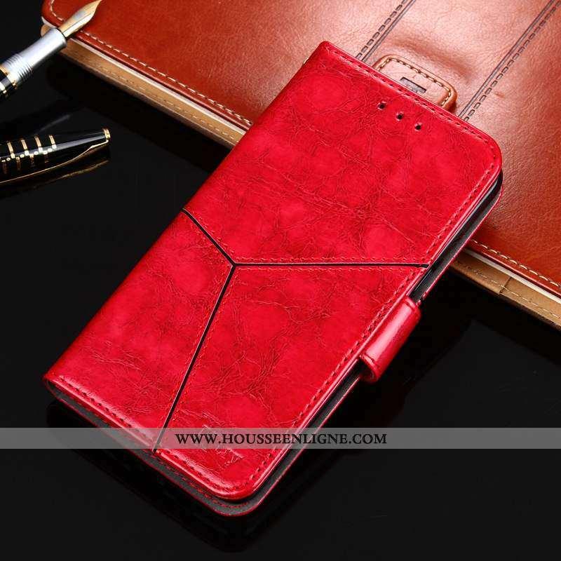 Housse Nokia 8.1 Fluide Doux Cuir Téléphone Portable Coque Tout Compris Rouge