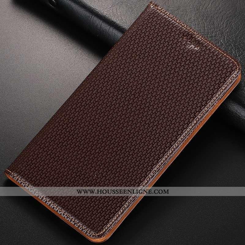 Housse Nokia 8.1 Protection Cuir Véritable Incassable Étui Coque Téléphone Portable Marron