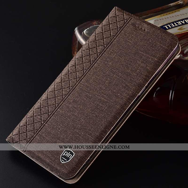 Housse Nokia 8.1 Protection Mesh Téléphone Portable Tout Compris Lin Coque Marron