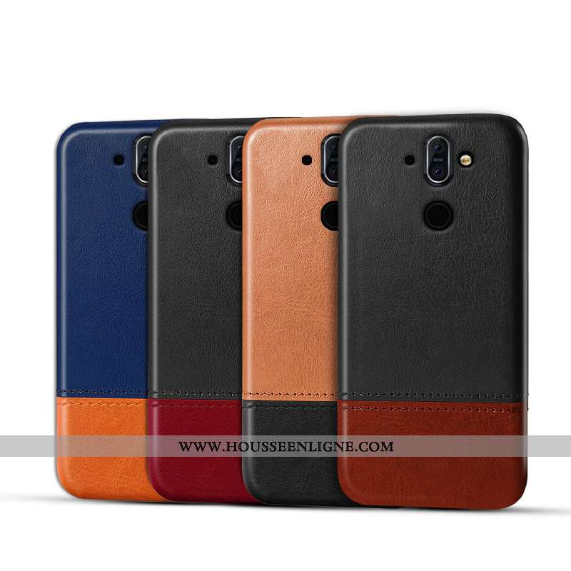 Housse Nokia 8 Sirocco Cuir Protection Étui Téléphone Portable Qualité Incassable Coque Noir