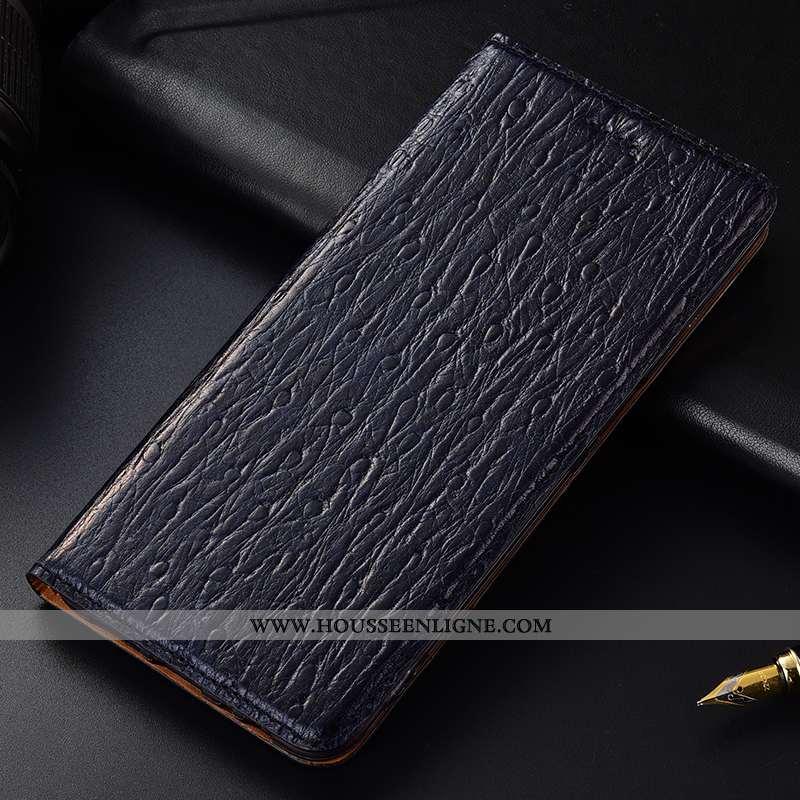Housse Nokia 8 Sirocco Cuir Véritable Protection Tout Compris Incassable Haute Coque Bleu Foncé
