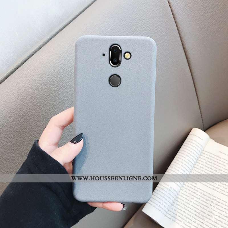 Housse Nokia 8 Sirocco Légère Fluide Doux Délavé En Daim Silicone Tendance Téléphone Portable Busine