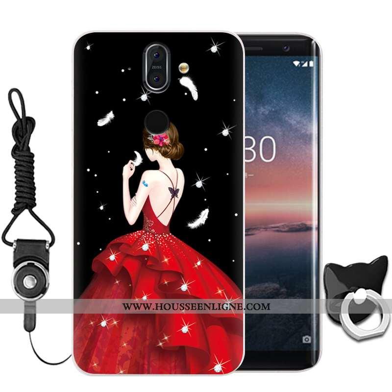Housse Nokia 8 Sirocco Protection Fluide Doux Membrane Noir Incassable Haute Téléphone Portable