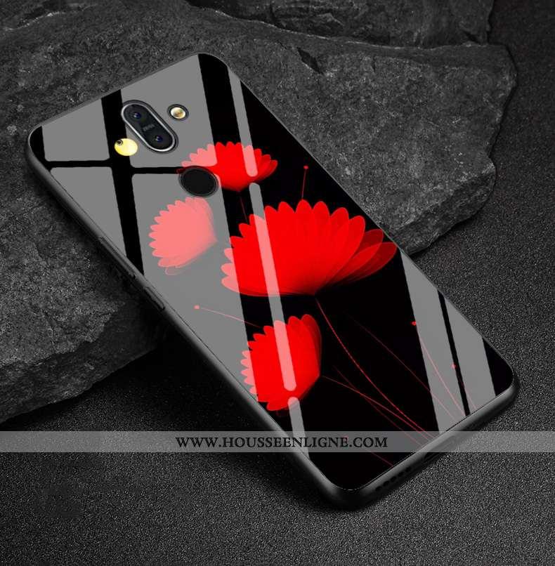 Housse Nokia 8 Sirocco Tendance Protection Téléphone Portable Verre Créatif Étui Coque Rouge