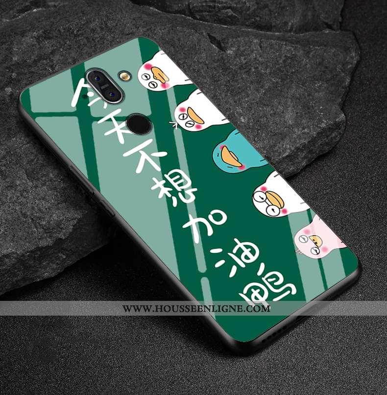 Housse Nokia 8 Sirocco Verre Créatif Silicone Protection Vert Téléphone Portable Coque Verte