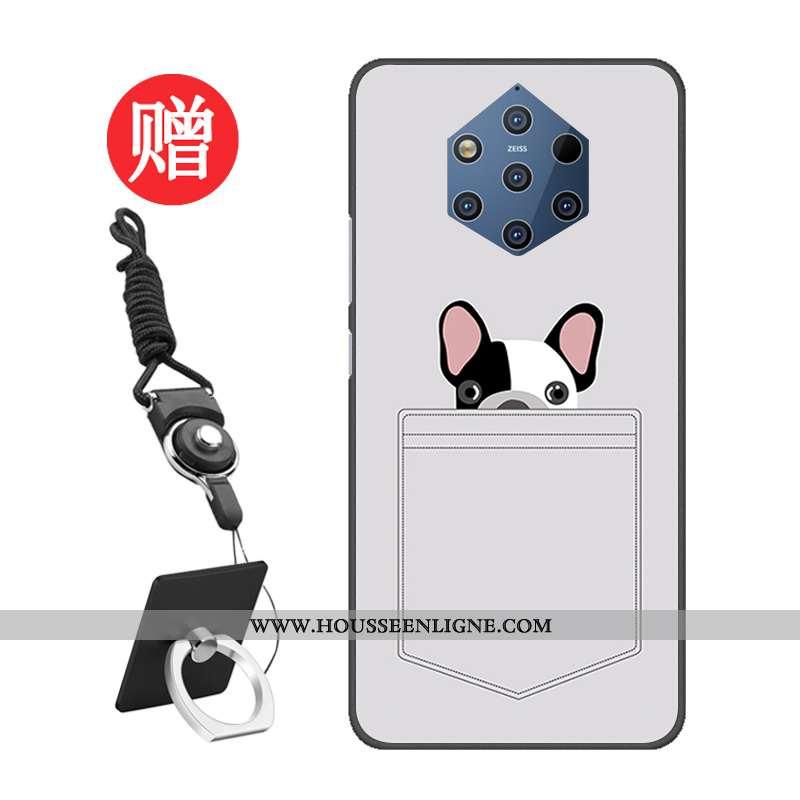 Housse Nokia 9 Pureview Protection Tempérer Gris Pu Modèle Membrane Étui