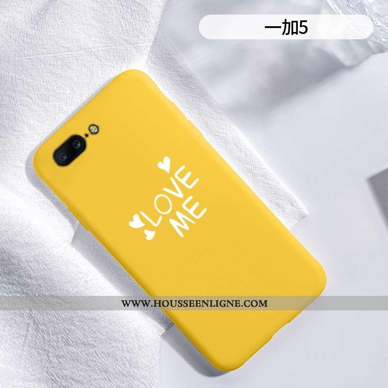 Housse Oneplus 5 Protection Créatif Amour Silicone Téléphone Portable Tendance Étui Jaune