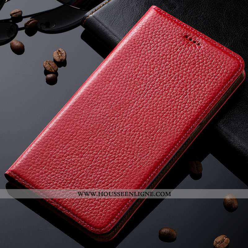 Housse Oneplus 5t Cuir Véritable Cuir Protection Coque Modèle Fleurie Téléphone Portable Rouge