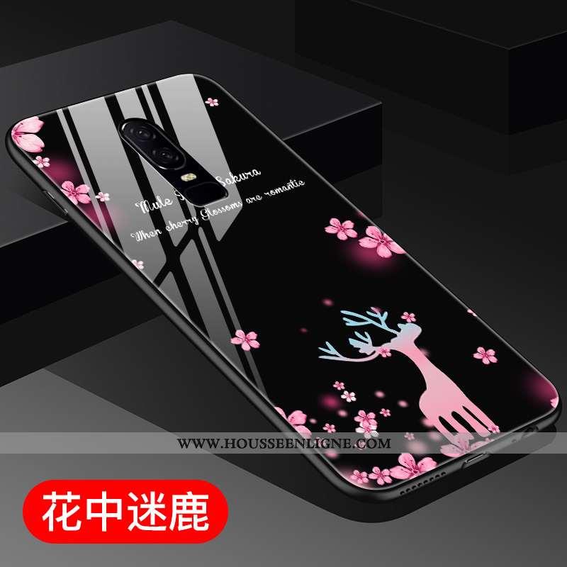 Housse Oneplus 6 Personnalité Créatif Miroir Tout Compris Étui Violet Téléphone Portable