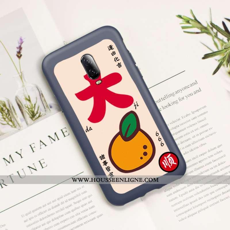 Housse Oneplus 6t Délavé En Daim Ultra Nouveau Téléphone Portable Rat Protection Silicone Rouge