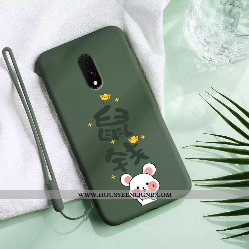 Housse Oneplus 7 Créatif Ultra Coque Nouveau Vert Silicone Téléphone Portable Verte