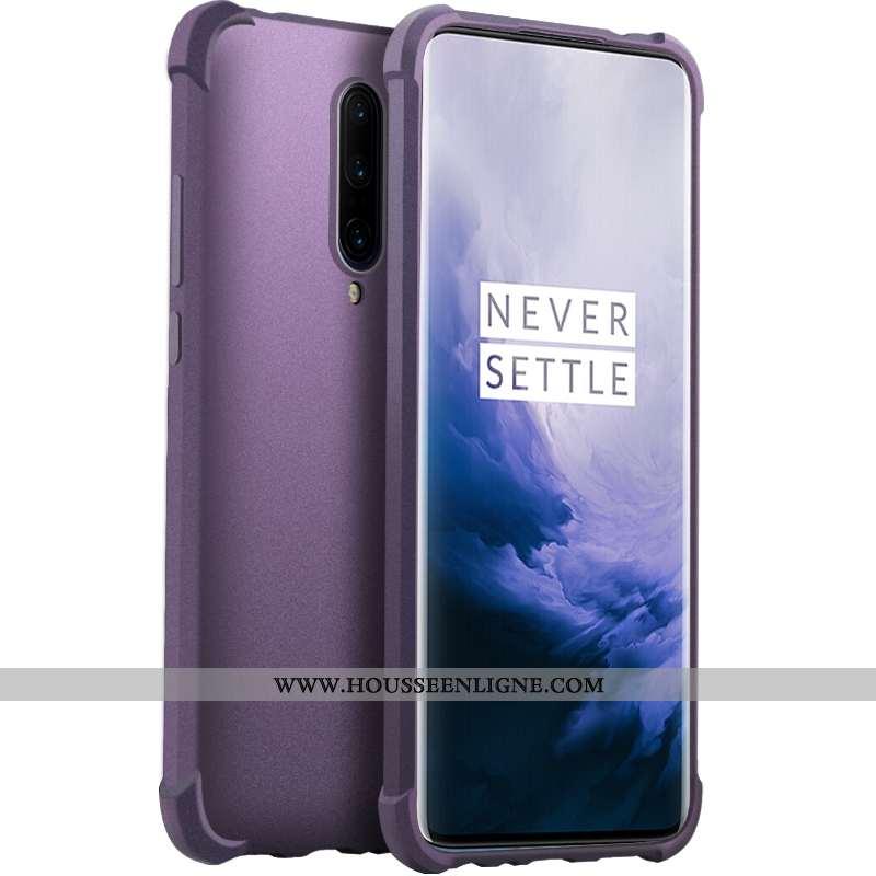 Housse Oneplus 7 Pro Transparent Silicone Téléphone Portable Incassable Coque Magnétisme Violet