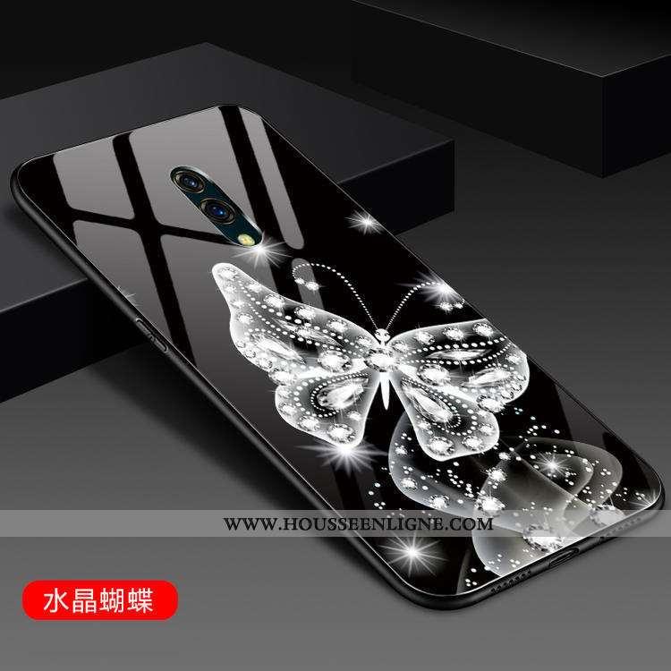 Housse Oneplus 7 Protection Verre Miroir Dégradé Mode Incassable Téléphone Portable Noir