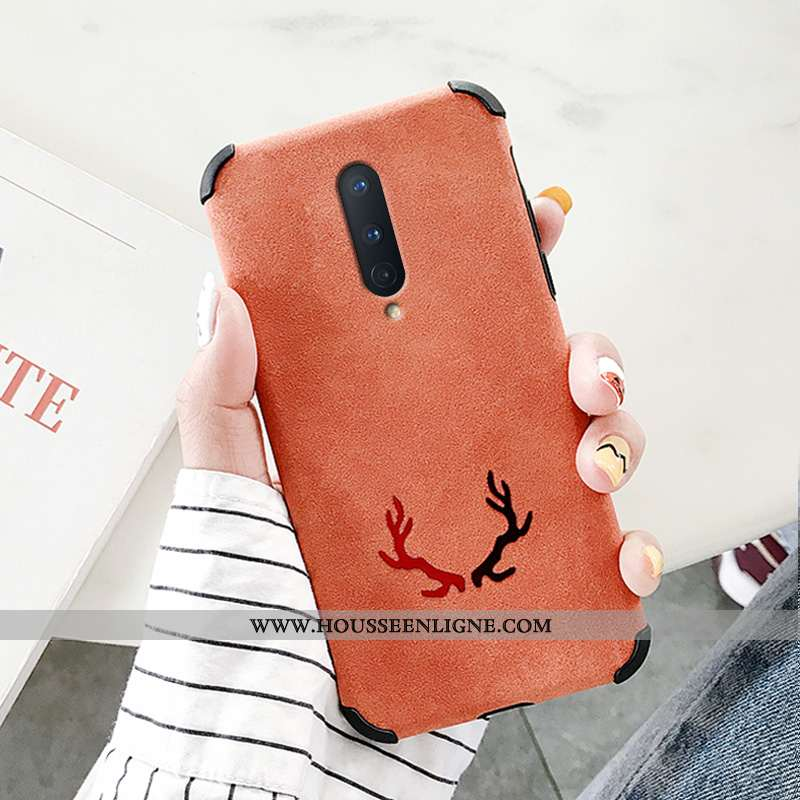 Housse Oneplus 8 Créatif Silicone Net Rouge Simple Protection Rose Incassable