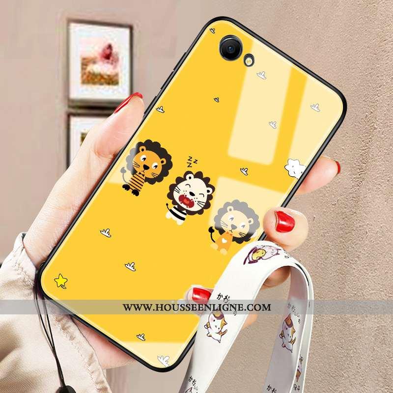 Housse Oppo A3 Dessin Animé Tendance Téléphone Portable Mode Créatif Tout Compris Tempérer Jaune