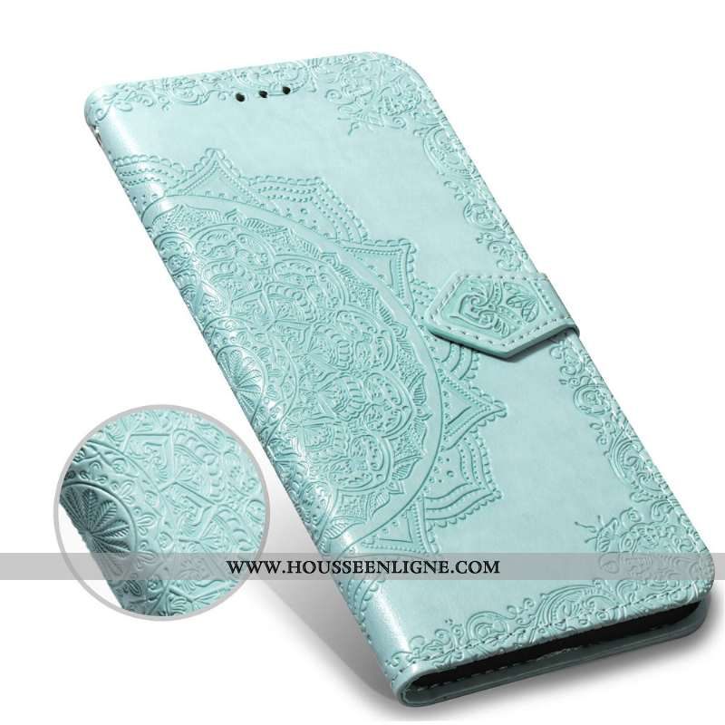 Housse Oppo A3 Gaufrage Cuir Protection Incassable Coque Vert Clamshell Verte