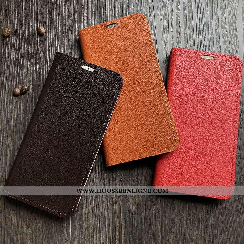 Housse Oppo A31 Cuir Véritable Cuir Téléphone Portable Bovins Orange Luxe Tout Compris
