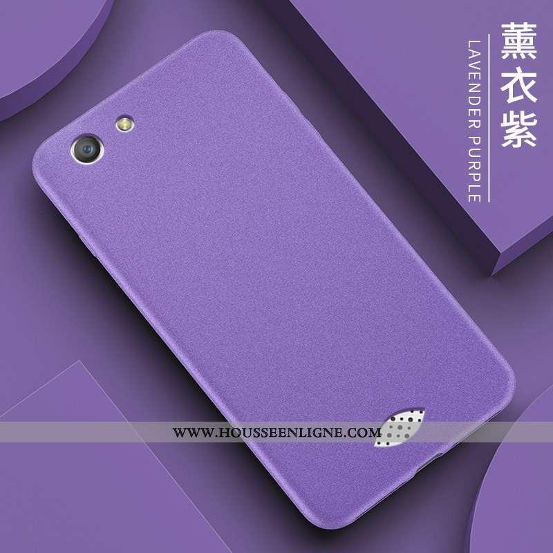 Housse Oppo A31 Personnalité Ultra Délavé En Daim Protection Fluide Doux Silicone Violet