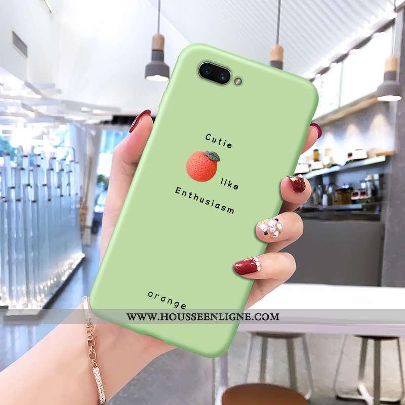 Housse Oppo A5 Fluide Doux Protection Coque Dessin Animé Vert Légère Téléphone Portable Verte