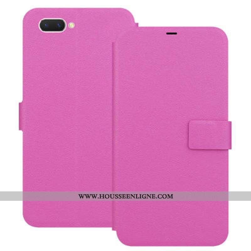 Housse Oppo A5 Fluide Doux Protection Coque Téléphone Portable Rouge Étui Rose