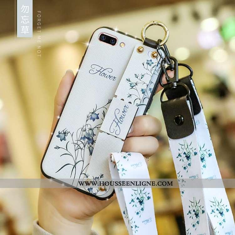 Housse Oppo A5 Mode Fluide Doux Étui Blanc Tout Compris Coque Téléphone Portable Blanche