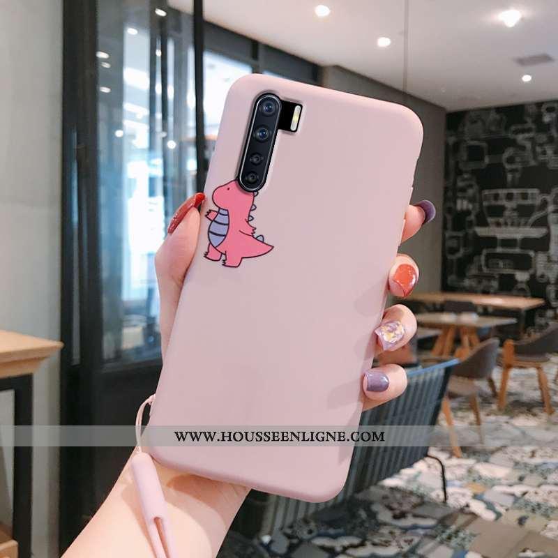 Housse Oppo A91 Fluide Doux Silicone Étui Charmant Téléphone Portable Coque Créatif Rose