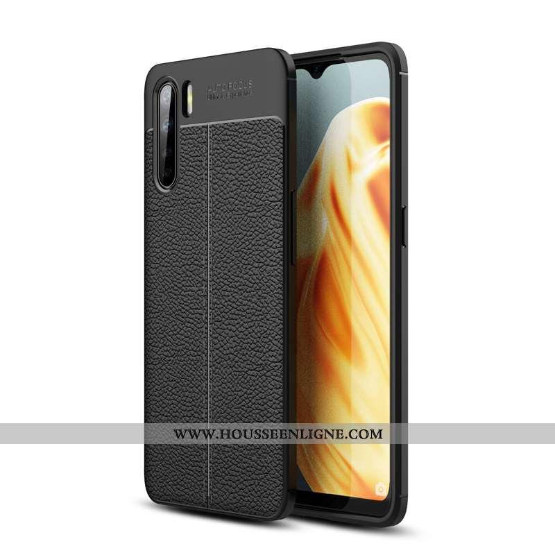 Housse Oppo A91 Silicone Fluide Doux Étui Téléphone Portable Noir Coque Incassable