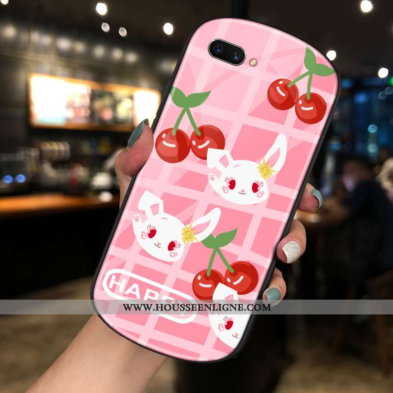 Housse Oppo Ax5 Dessin Animé Charmant Net Rouge Rose Téléphone Portable Créatif Verre
