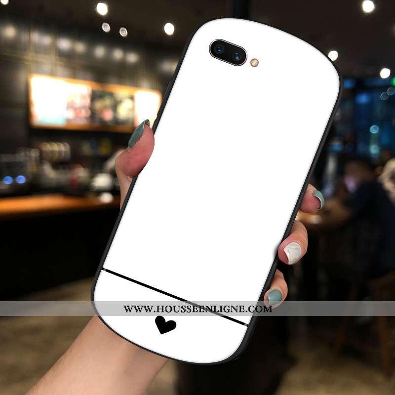 Housse Oppo Ax5 Personnalité Créatif Tendance Rond Blanc Verre Téléphone Portable Blanche