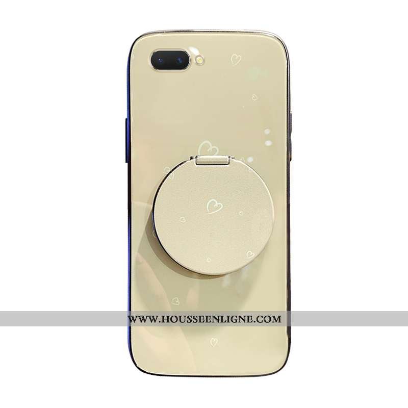 Housse Oppo Ax5 Tendance Protection Verre Personnalité Simple Net Rouge Maquillage Beige