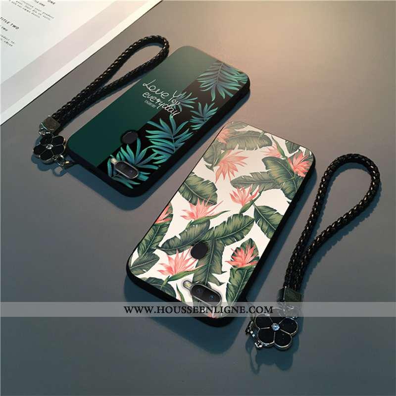 Housse Oppo Ax7 Délavé En Daim Personnalité Téléphone Portable Légère Mode Légères Protection Verte