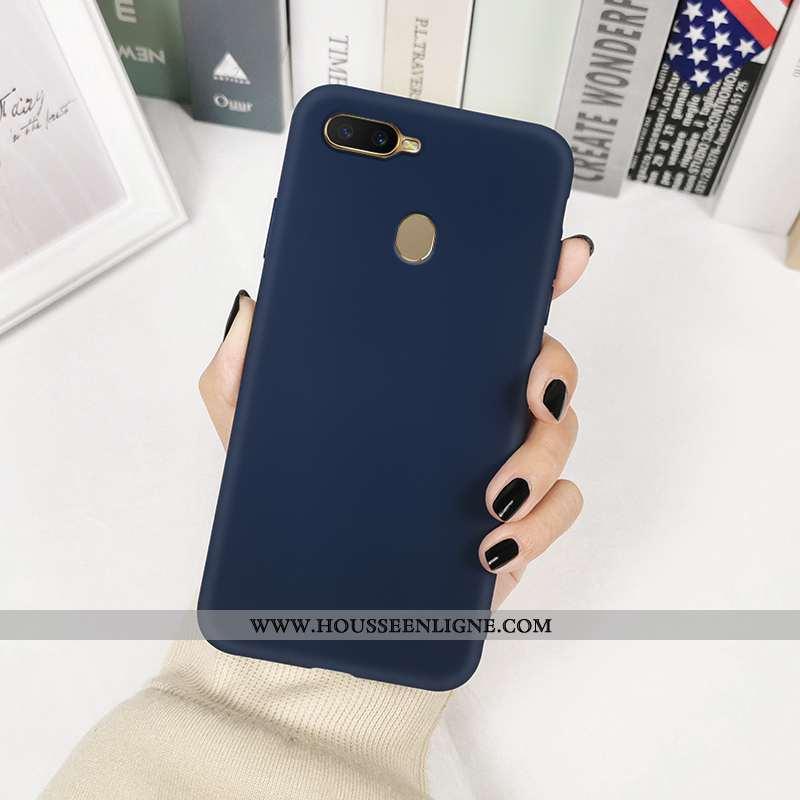 Housse Oppo Ax7 Fluide Doux Silicone Protection Incassable Délavé En Daim Personnalité Créatif Bleu