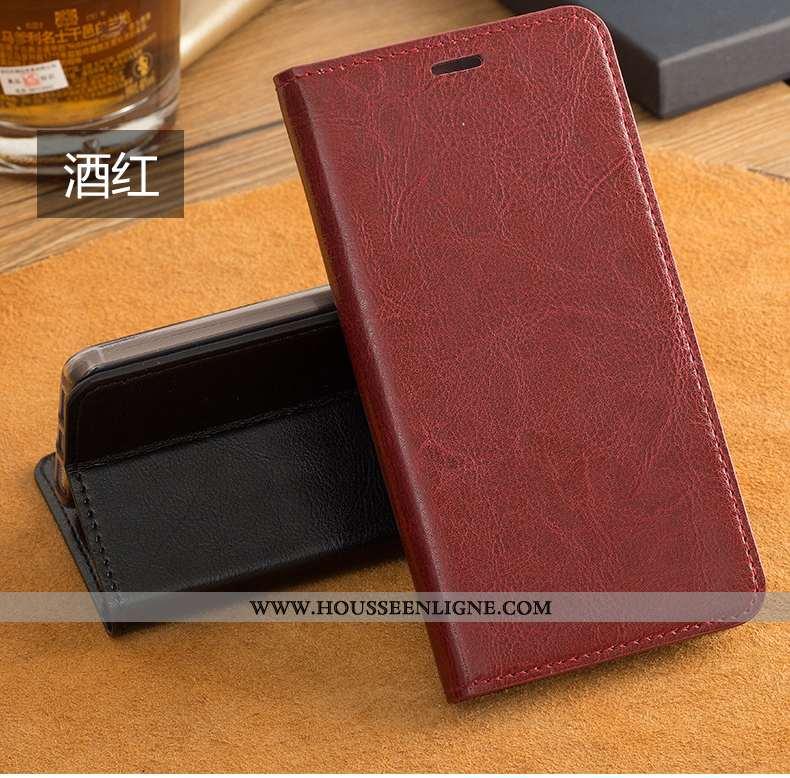 Housse Oppo Ax7 Vintage Fluide Doux Business Protection Créatif Cuir Véritable Téléphone Portable Ro