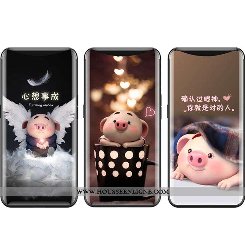 Housse Oppo Find X Verre Fluide Doux Bordure Coque Téléphone Portable Protection Difficile Khaki