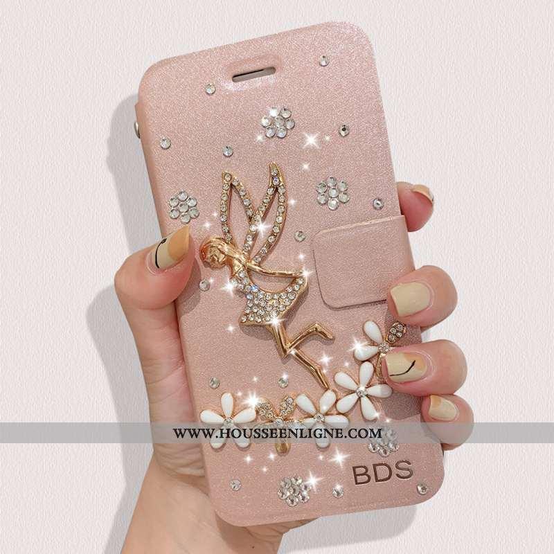 Housse Oppo Find X2 Pro Cuir Protection Coque Téléphone Portable Rose Étui