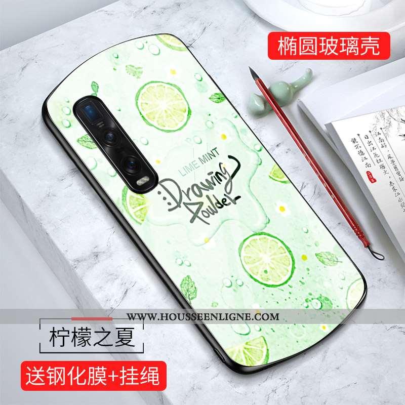 Housse Oppo Find X2 Pro Personnalité Créatif Miroir Coque Protection Téléphone Portable Charmant Ver