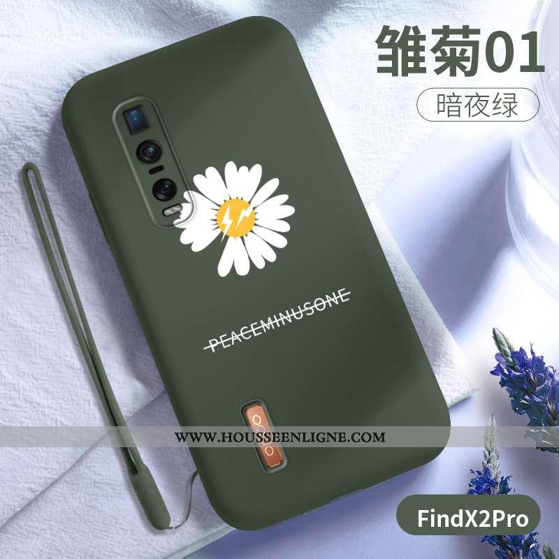 Housse Oppo Find X2 Pro Protection Ultra Légère Téléphone Portable Vert Net Rouge Incassable Verte