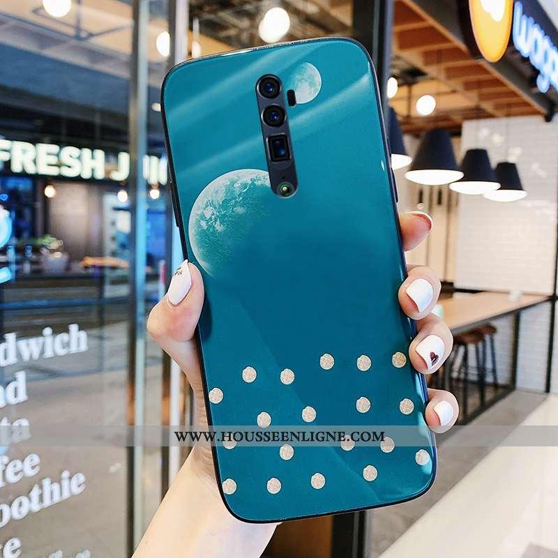 Housse Oppo Reno 10x Zoom Créatif Tendance Net Rouge Protection Coque Bleu Téléphone Portable