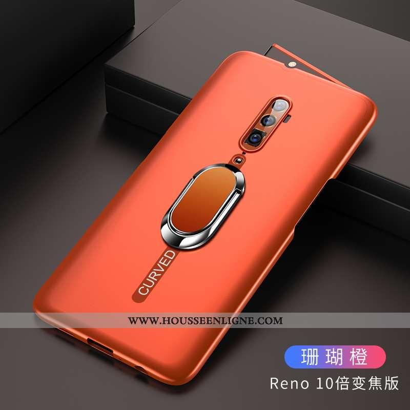 Housse Oppo Reno 10x Zoom Protection Délavé En Daim Téléphone Portable Difficile Orange Coque Étui
