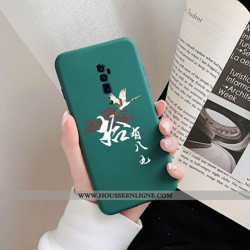 Housse Oppo Reno 10x Zoom Silicone Personnalité Amoureux Tendance Coque Vert Téléphone Portable Vert