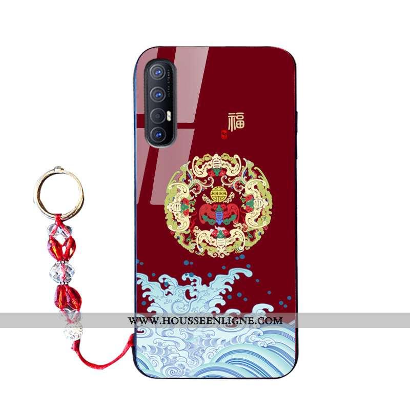Housse Oppo Reno 3 Pro Silicone Tendance Coque Téléphone Portable Rouge Nouveau Incassable