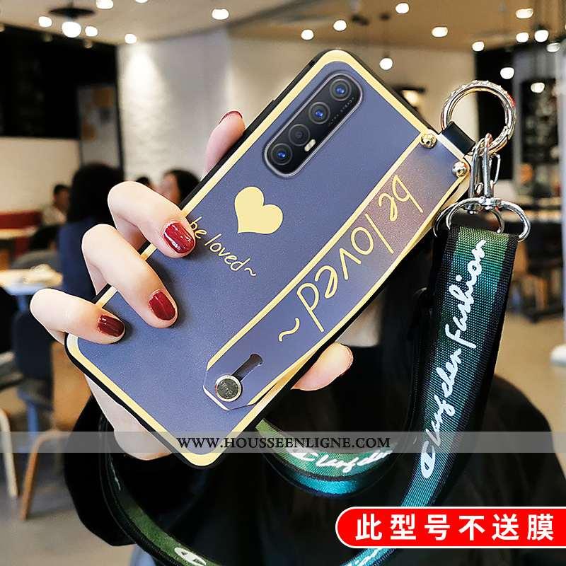 Housse Oppo Reno 3 Pro Tendance Fluide Doux Bleu Clair Téléphone Portable Incassable Protection