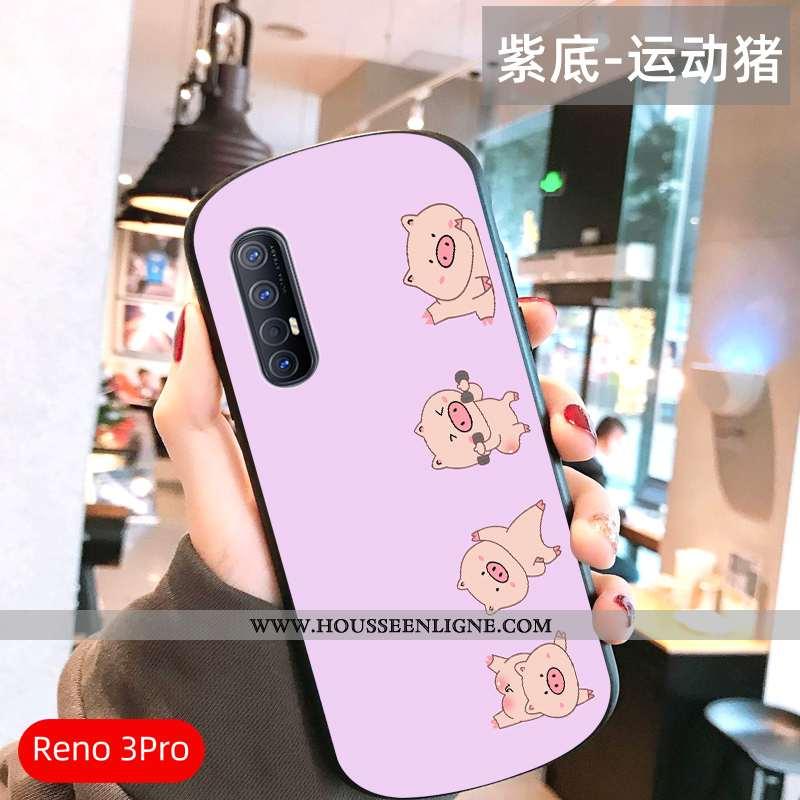 Housse Oppo Reno 3 Pro Ultra Légère Tout Compris Téléphone Portable Miroir Vent Incassable Rose