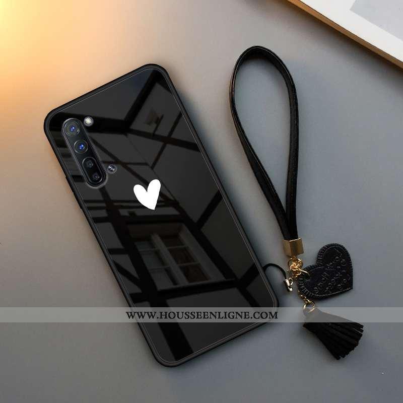 Housse Oppo Reno 3 Tendance Fluide Doux Téléphone Portable Étui Verre Silicone Simple Noir