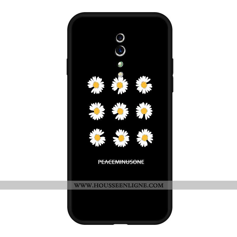 Housse Oppo Reno Z Fluide Doux Silicone Coque Téléphone Portable Tendance Étui Tout Compris Noir